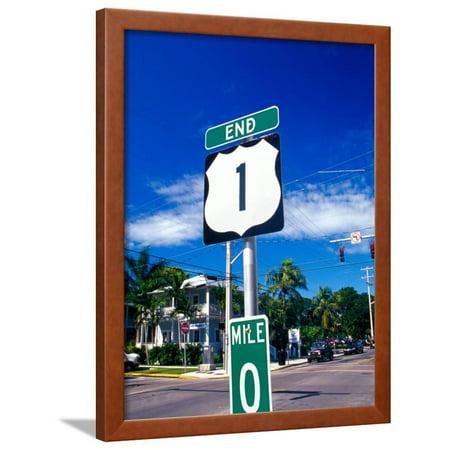 Mile Marker 0, Key West, Florida Keys, Florida, USA Framed Print Wall Art By Terry Eggers ()
