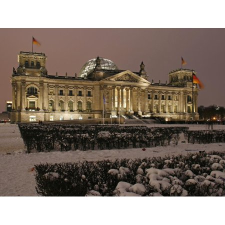 The German Parliament in the Old Reichstag Building, Berlin, Germany Print Wall Art By David