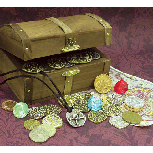 American Coin Treasures Kid's Pirate Treasure Chest