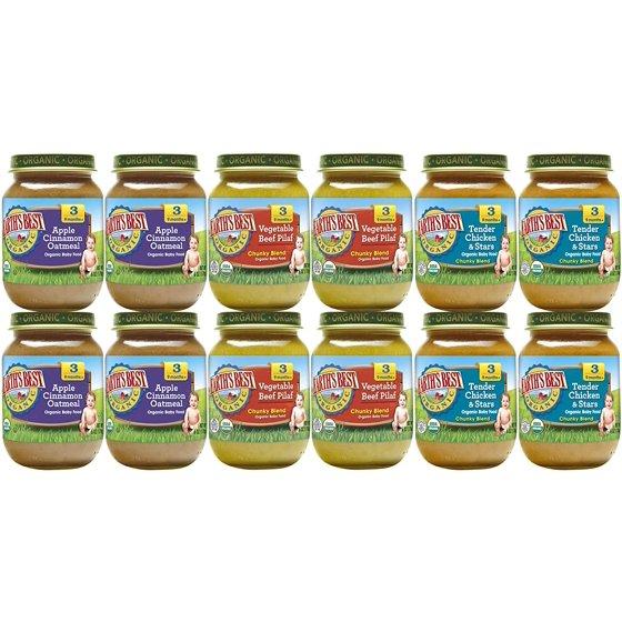 Earths Best Organic Stage 3 Baby Food Junior Best Sellers Variety