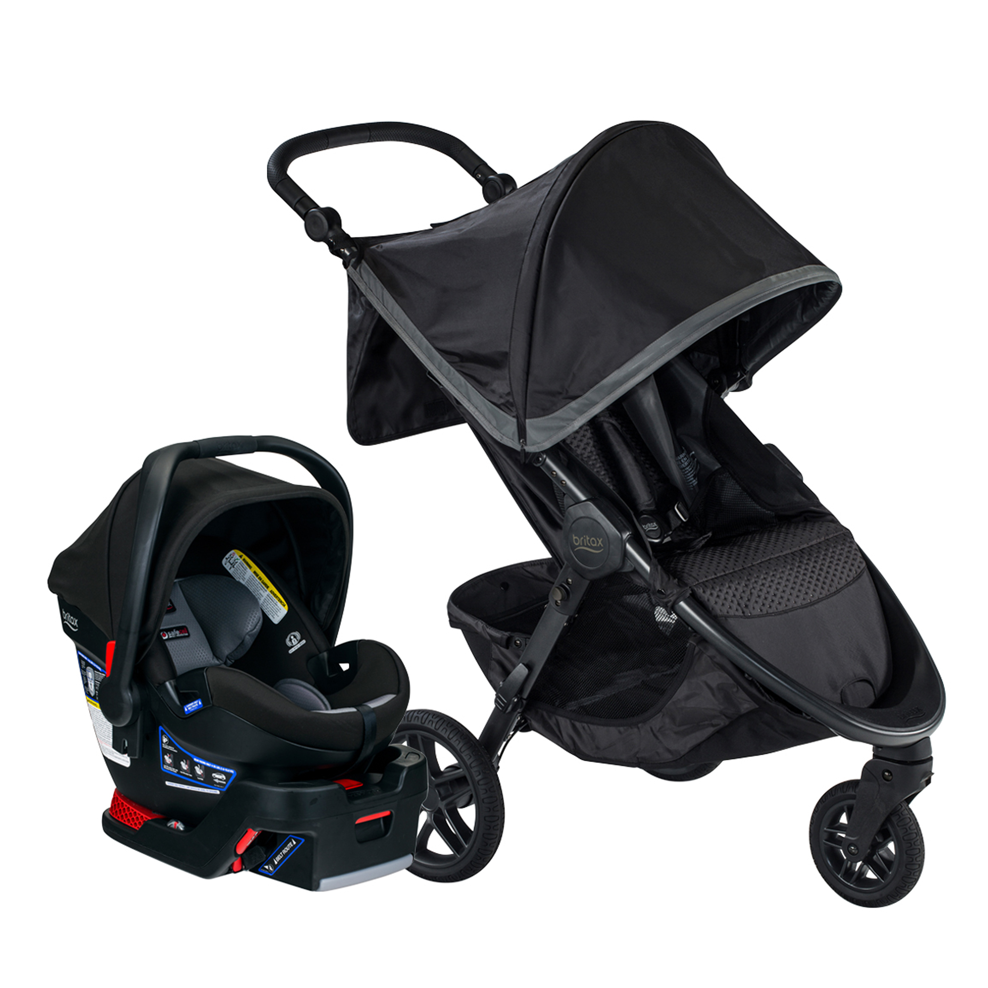 Britax B-Free & B-Safe Ultra Travel System, Pewter by Britax