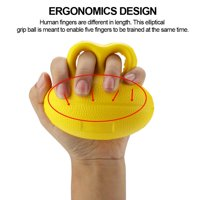 Greensen Universal Hand function Trainer Finger Recovery Training Exercising Stress Grip Ball Yellow