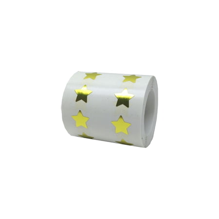 Metallic Gold Star Stickers, 1/2 Inch Wide, 1000 Labels on a - Custom Roll Stickers