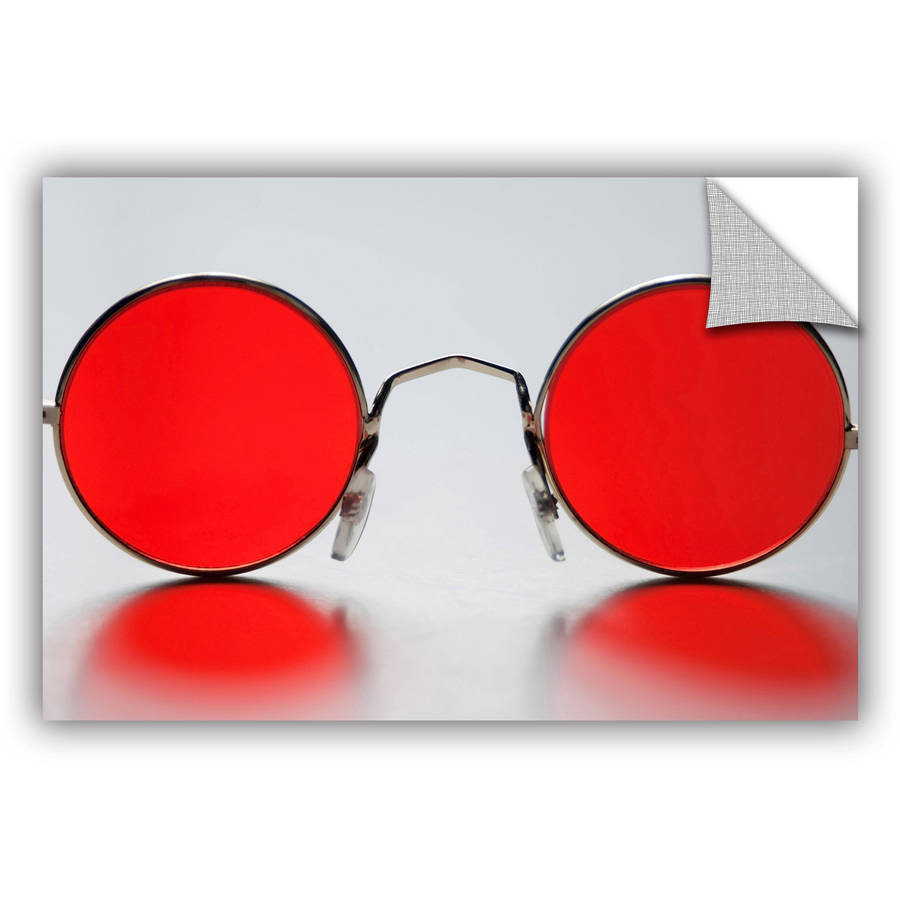 "ArtAppealz Dan Holm ""Rose Colored Glasses"" Removable Wall Art"