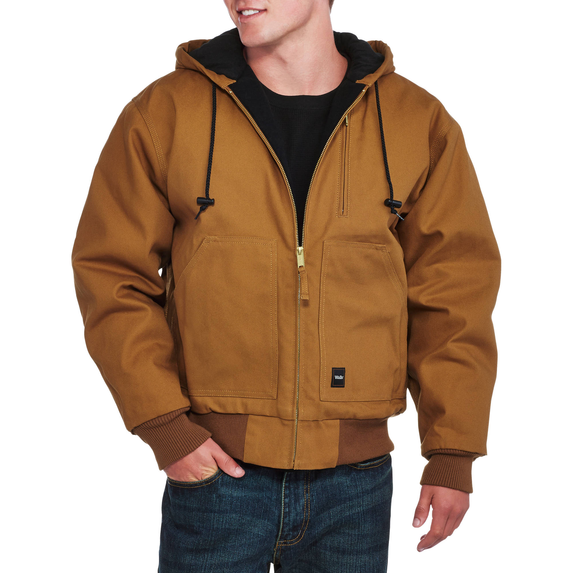 Walls Big Men's Insulated Duck Hooded Jacket