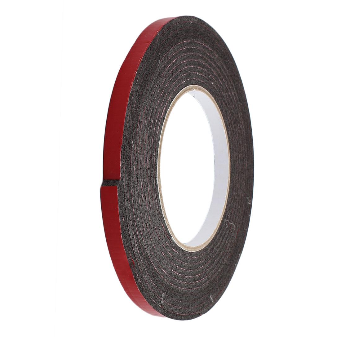 8mm x 3mm Single Sided Self Adhesive Shockproof Sponge Foam Tape 5M Length Red