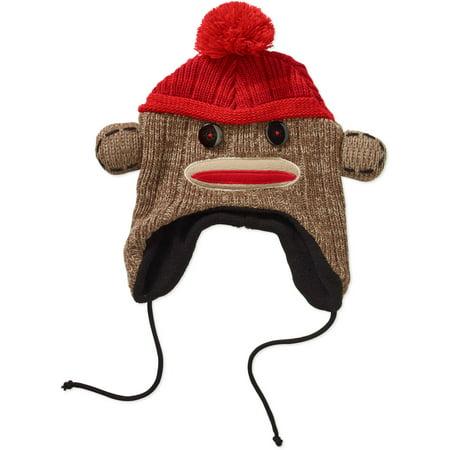 Men s Sock Monkey Knit Hat - Walmart.com 21068d7278f8
