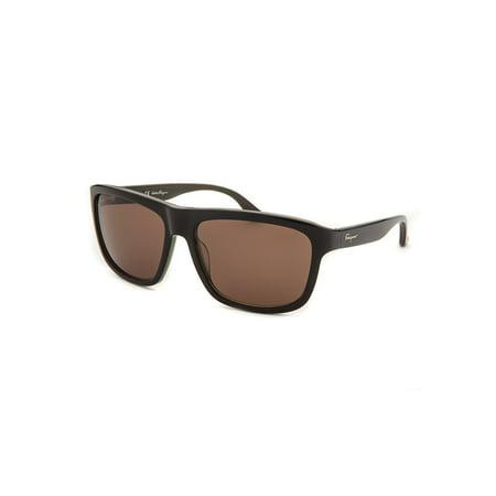 Salvatore Ferragamo Sf710s-320-57 Men's Square Black Sunglasses