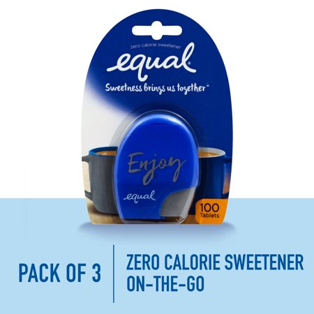 Equal Artificial Sweetener ((3 Pack) Equal Tablets, Zero Calorie Sweetener and Sugar Substitute)