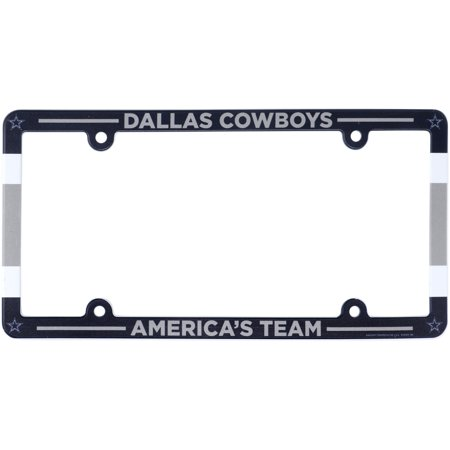 Dallas Cowboys WinCraft Full Color License Plate Frame Chrome Dallas Cowboys Frame