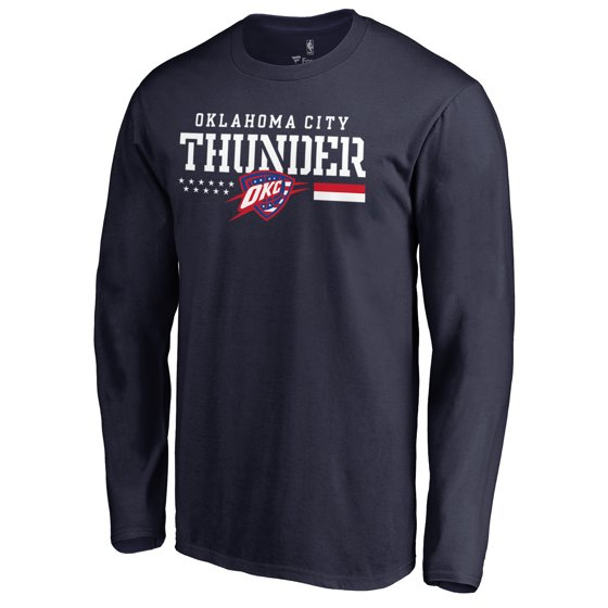 reputable site 74941 aa514 Oklahoma City Thunder Fanatics Branded Hoops For Troops Long Sleeve T-Shirt  - Navy
