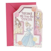 Product Image Hallmark 1st Birthday Greeting Card For Girls Disney Princesses