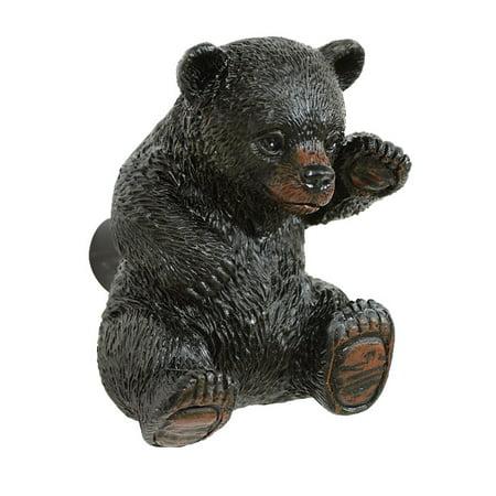 Curious Black Bear Cabinet (Wash Bear Knob)