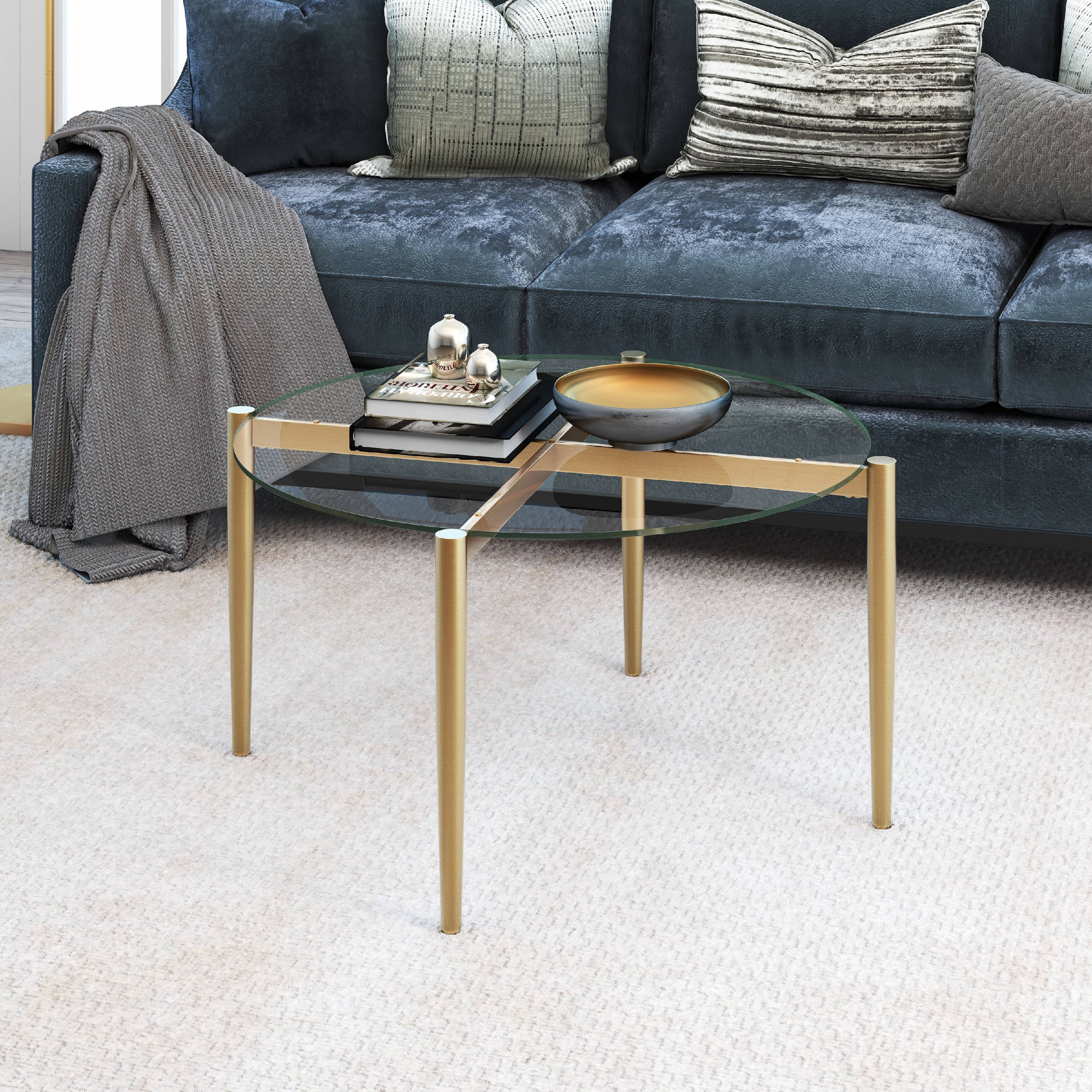 Kadmos Mid Century Coffee Table in Gold