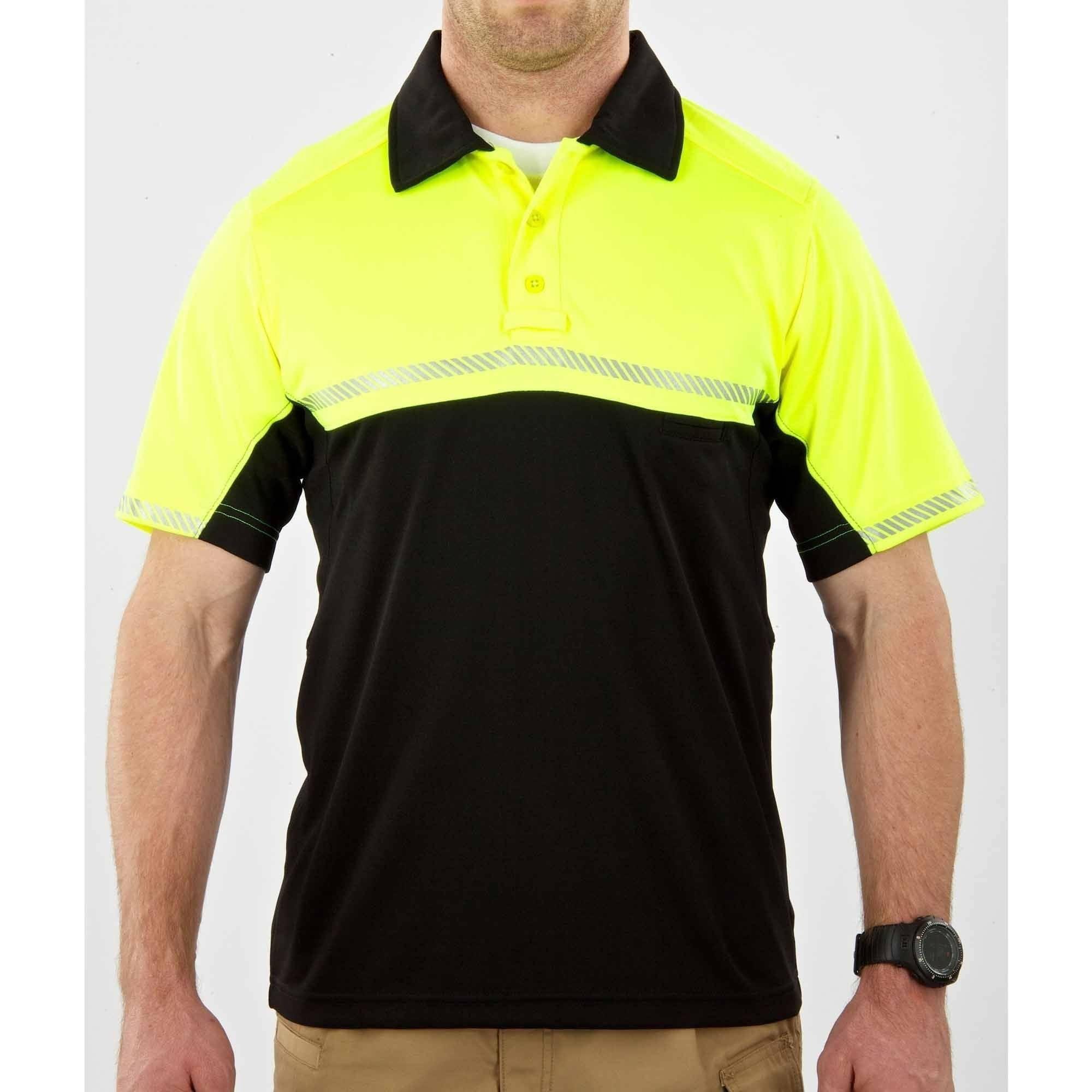5.11 Tactical Bike Patrol Short Sleeve Polo, High-Vis Yellow