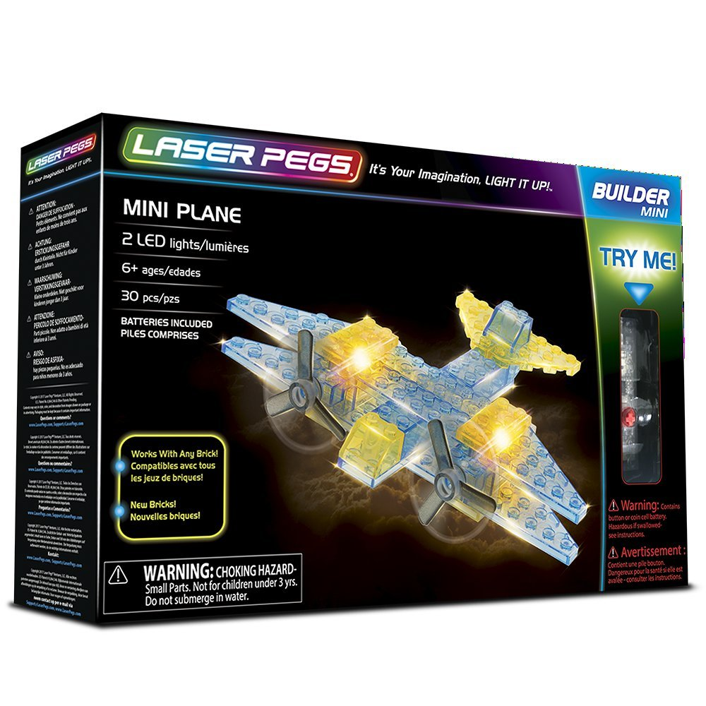 The Lakeside Collection 6 in 1 Laser Pegs® Construction Toys Dragster