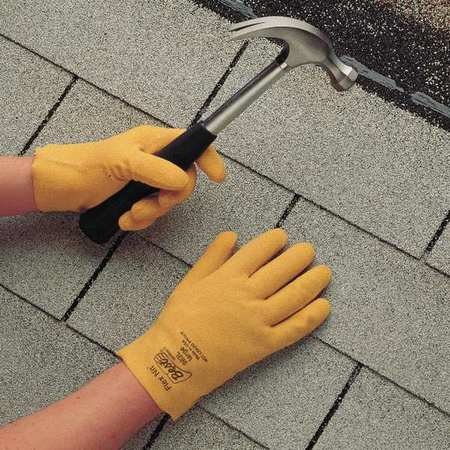 SHOWA BEST 962L-10 Coated Gloves,L,Yellow,PR (Best Structural Firefighting Gloves)
