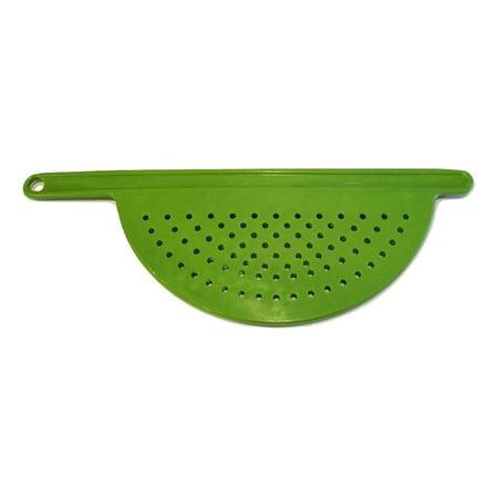 "Hand Held Pot Drainer Pasta Noodle Veggie Strainer w/ Handle - Fits up to 9"" Pot"