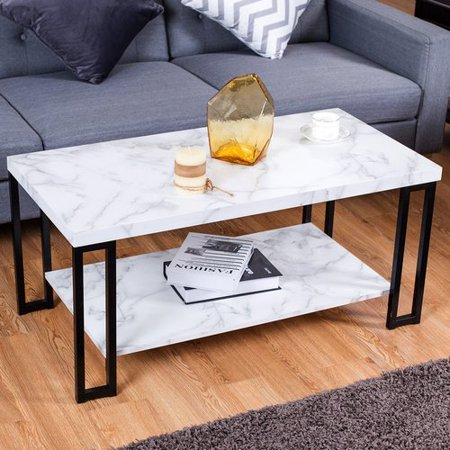 Accent Cocktail Table Coffee Table w/ Storage - Alpine Cocktail Table