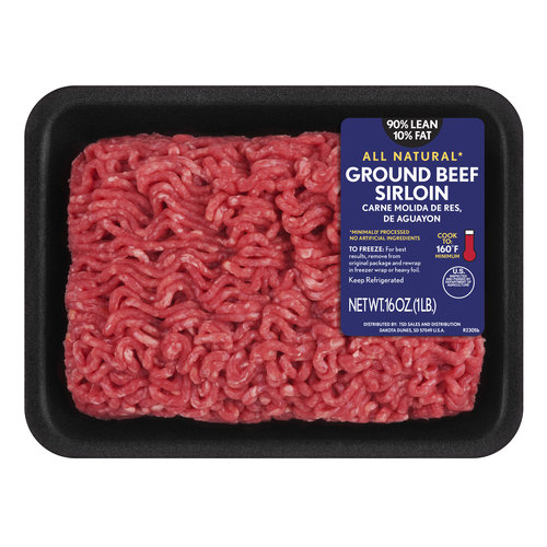 90% Lean/10% Fat Ground Beef Sirloin, 1 lb