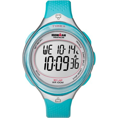 Timex Women's Ironman Classic 30 Mid-Size Watch, Blue Resin Strap