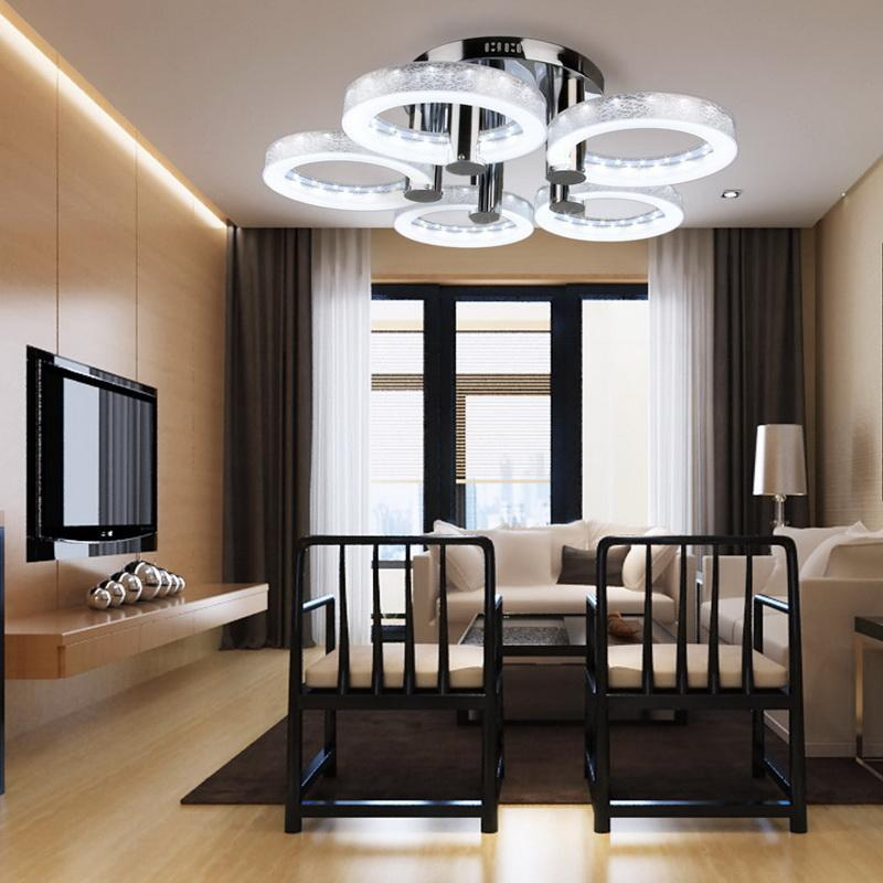Modern Style LED Acrylic Chandeliers Ceiling Light Lamp Living Room, Hallway Pendant Lamp with 5 Lights, Cool White Light