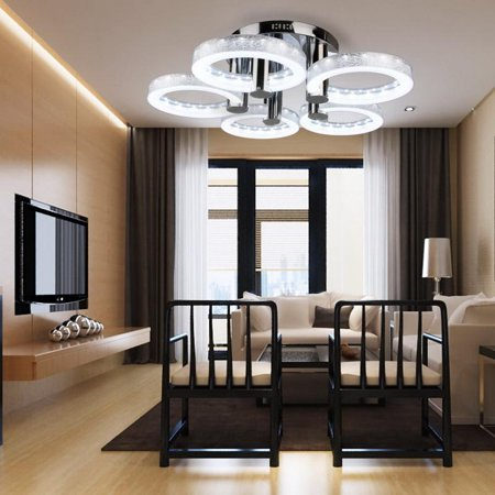 Modern Style Led Acrylic Chandeliers Ceiling Light Lamp Living Room Hallway Pendant With 5 Lights Cool White