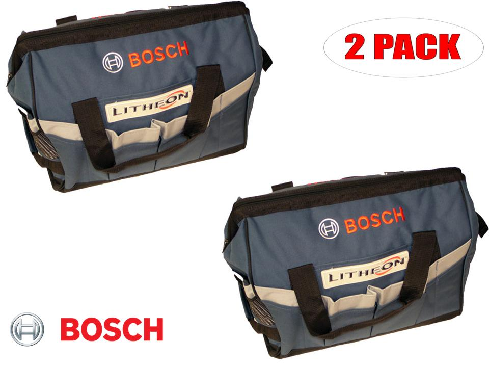 "Bosch 19"" x 12"" x 13"" Heavy Duty Contractors Tool Bag # 2610944955 (2 PACK) by Bosch"