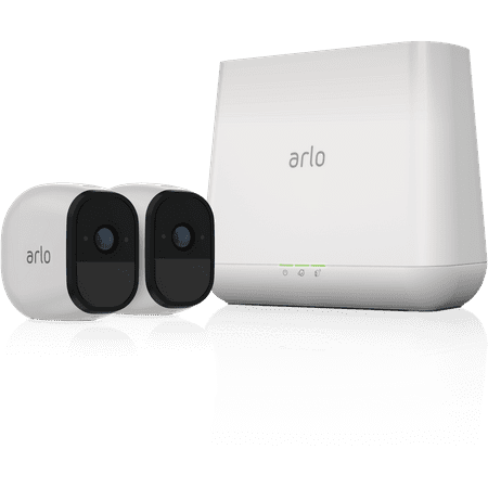 Arlo Pro Security Camera System with Siren - 2 Rechargeable Wire-Free HD Cameras with Audio, Indoor/Outdoor, Night Vision (VMS4230)