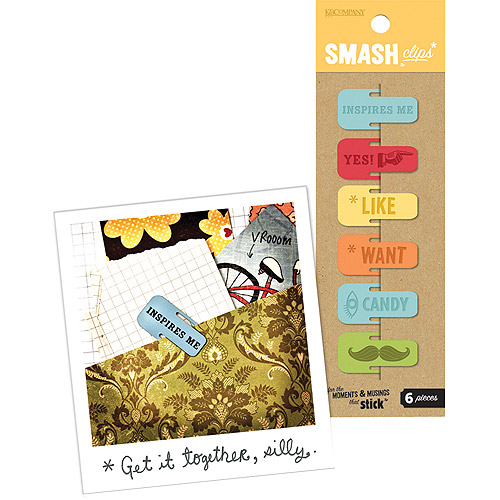K & Company Retro SMASH Clips, 6-Pack