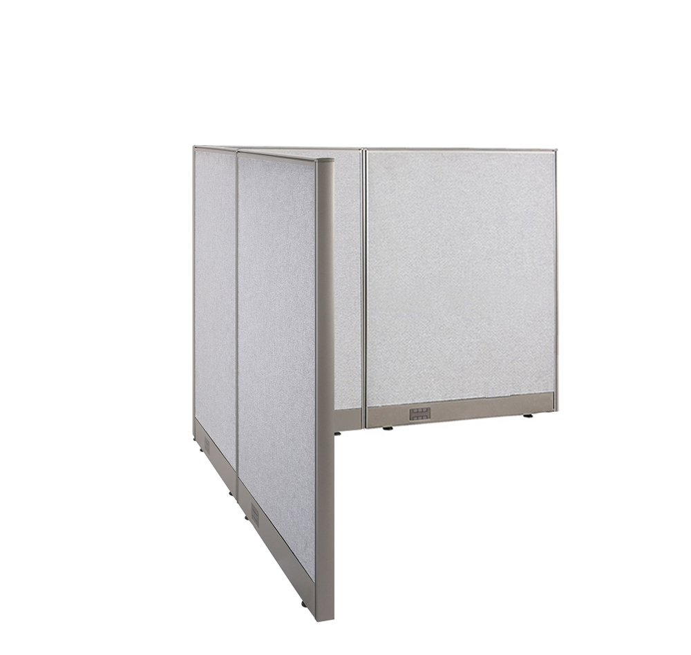 GOF L-Shaped Freestanding Office Panel Cubicle Wall Divid...