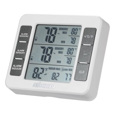 KKmoon Mini LCD Digital Thermometer Temperature Meter 0℃~50℃ with Measurement ℃/℉ Max Min Value Display - image 2 of 7