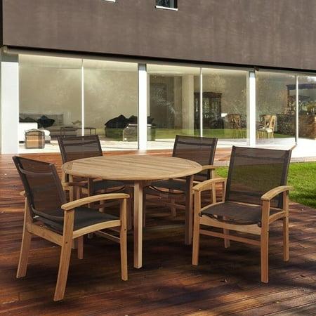 Amazonia Teak  Luna 5-piece Round Patio Dining Set ()