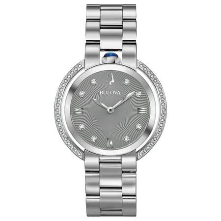 Bulova Women's Rubaiyat Stainless Steel Diamond Case Watch