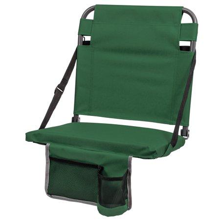 EastPoint Sports Portable Bleacher Back Stadium Seat, Green