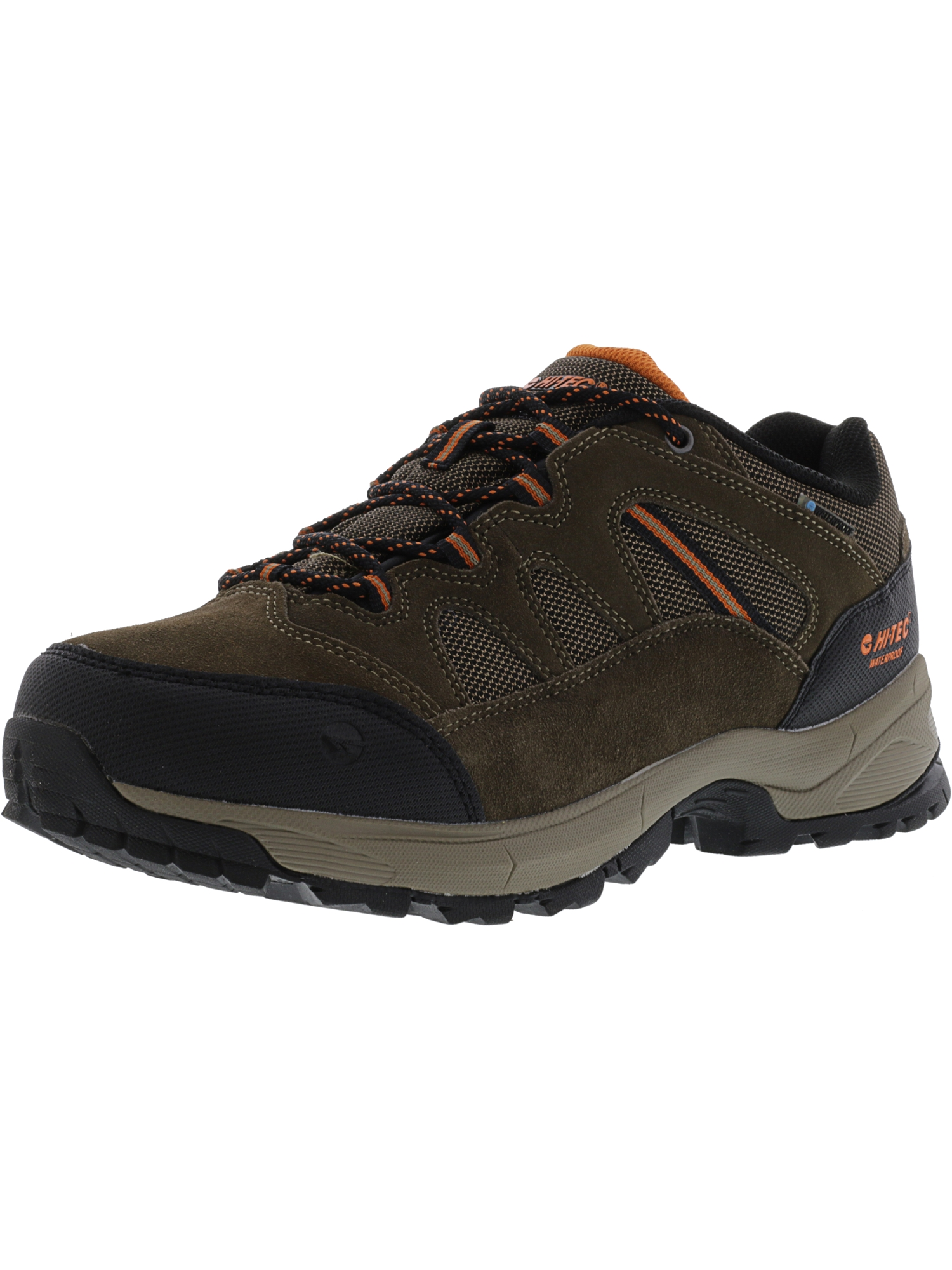Hi-Tec Men's Ridge Low Waterproof I Brown Ankle-High Leather Hiking Shoe 8M by Hi-Tec