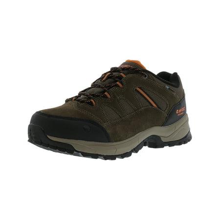 Hi-Tec Men's Ridge Low Waterproof I Brown Ankle-High Leather Hiking Shoe - 8M