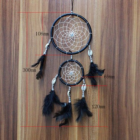 Mosunx Handmade Lace Dream Catcher Feather Bead Hanging Decoration Ornament Gift