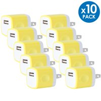 Universal USB Wall Charger Power Adapter Plug 1A 5V Travel Charger USB Charging Brick AC Power Adapter For Phone 6 / 7 / 8 / X / Xs / Xs Max / 11 / 11 Pro Max, Galaxy S8/S9/S10, LG, Google [10-PACK]