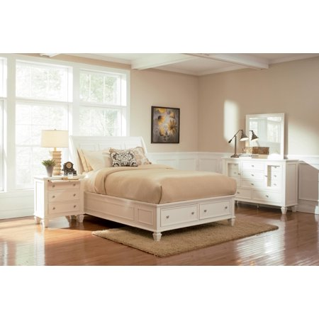 Beach Bedroom Set (Coaster Sandy Beach 4-Piece California King Bedroom Set in White)