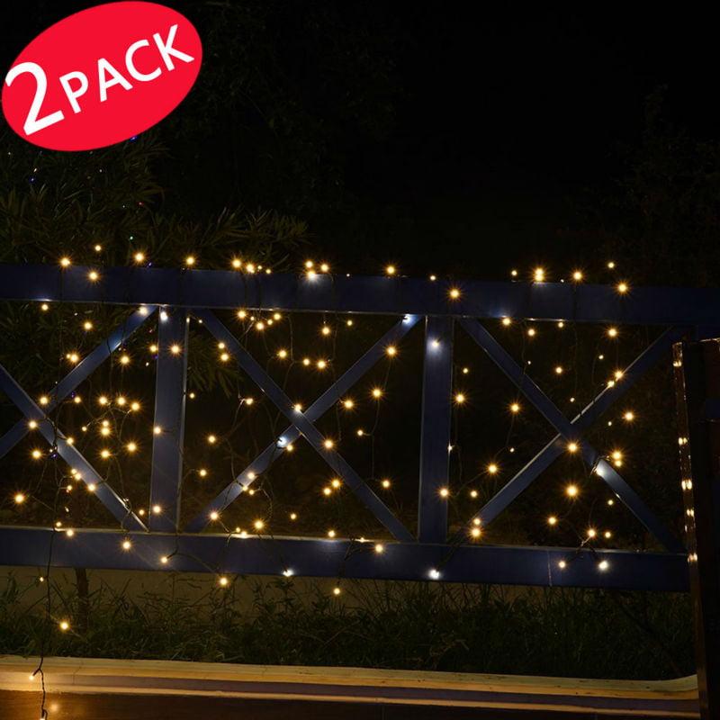 2PACK Qedertek Dual Solar&Battery String Lights, 72ft 200 LED Landscape String Lights For Patio, Lawn, Garden, Backyard... by Qedertek