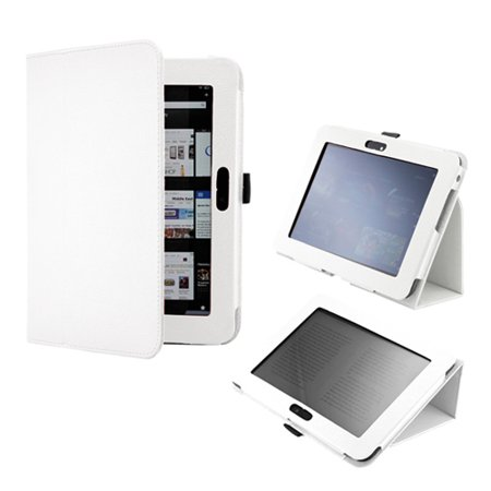 White Stylus - White Magnetic Smart Cover Folio PU Leather Case Stylus Holder for 2012 Amazon Kindle Fire HD 8.9