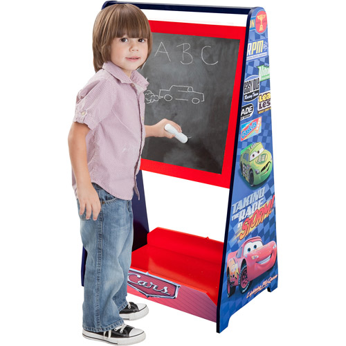 Disney Cars Standing Art Easel with Chalkboard and Wipeboard by Delta Children