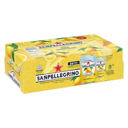 Sanpellegrino Lemon Sparkling Fruit Beverage, 11.15 fl oz. Cans (24 Count) - Lemon Passion Fruit Fruit