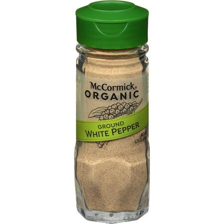 McCormick Gourmet Organic Ground White Pepper, oz