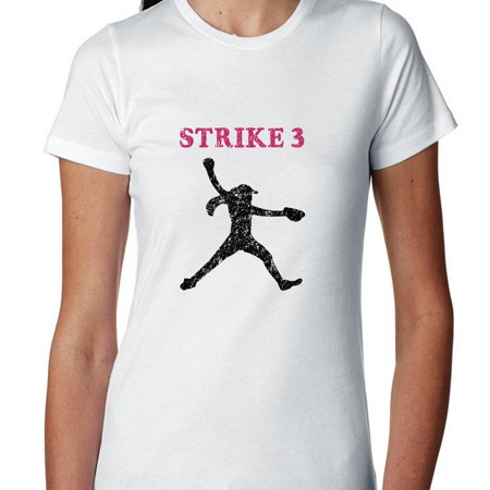 strike 3 softball pitcher silhouette colorful highlights women s