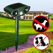 Solar Powered Dual Ultrasonic Garden Yards Outdoor Pest and Animal Repeller, Cats Dogs Repellent