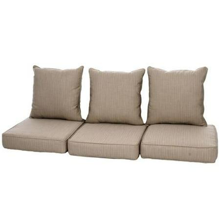 Clara Indoor/ Outdoor Wicker Sofa Cushion Set made with Sunbrella Fabric