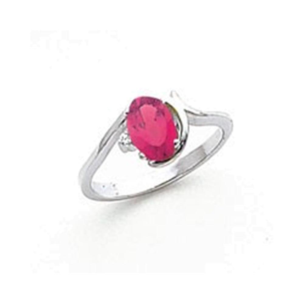 14k White Gold 7x5mm Oval Pink Tourmaline VS Diamond ring Diamond quality VS (VS2 clarity, G-I color) by