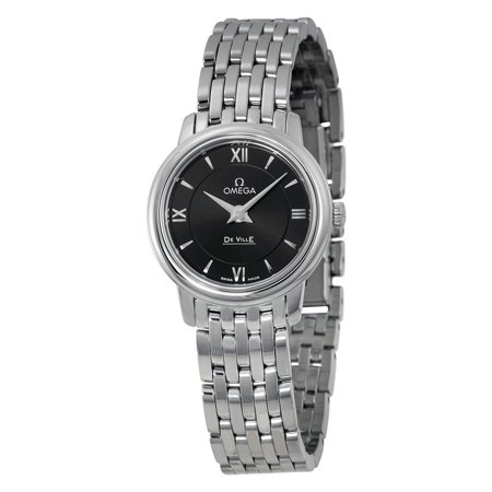 Omega De Ville Prestige Black Dial Stainless Steel Ladies Watch 42410246001001